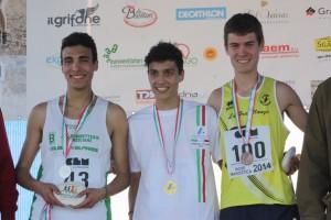 Giacobazzi podio cross2014