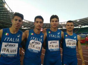4x100 ITA con Pettenati