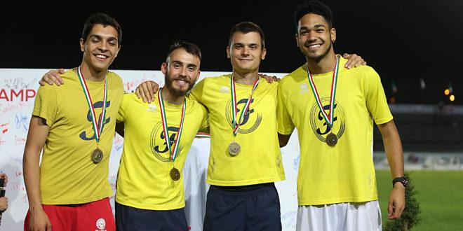 Bronzo 4×100. Ai campionati italiani Cesari, Fornasari, Pettenati e Ansaloni salgono sul podio con la staffetta