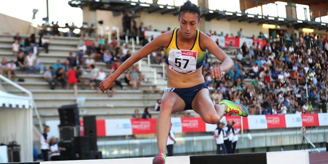 Francesca Bertoni nei 3000 metri siepi ai Mondiali di Londra