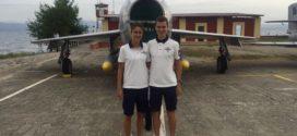 Francesca Bertoni e Alessandro Giacobazzi in Aeronautica Militare